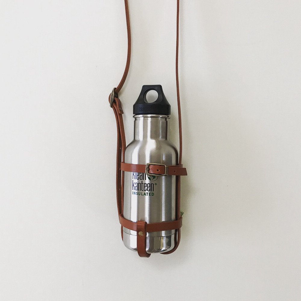 leather bottle strap for klean kanteen / regular レザーボトルストラップ img