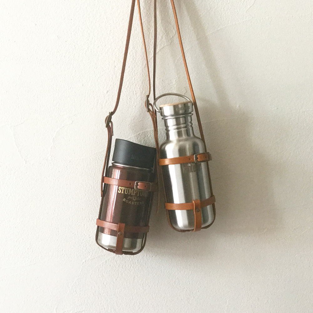 leather bottle strap for klean kanteen / long レザーボトルストラップ img3