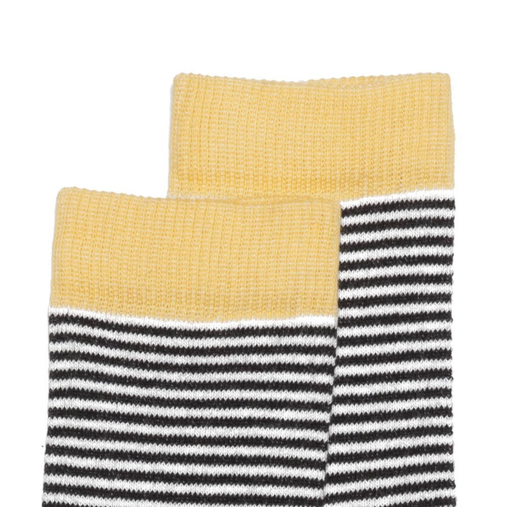 【SALE 30%OFF】Sock striped and ocher img1