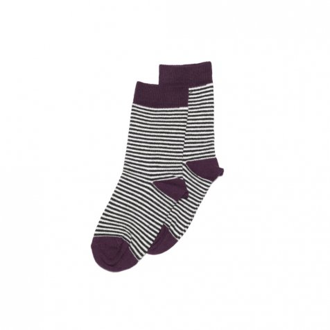 【入荷前ご予約販売】Sock striped and eggplant