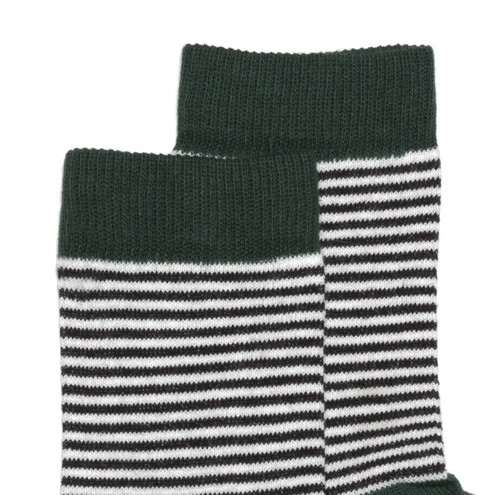 【WINTER SALE 50%OFF】Sock striped and emerald img1
