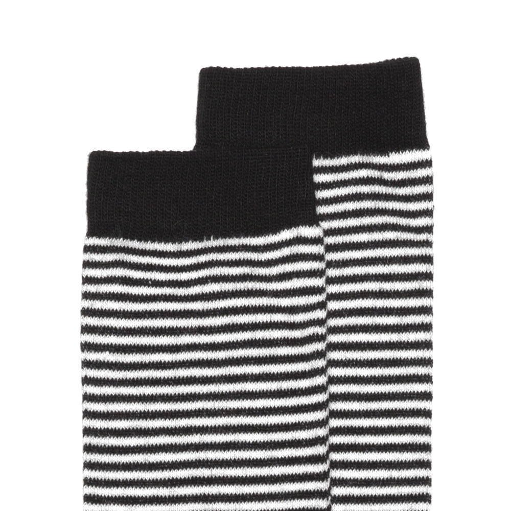 Knee sock b/w striped img1