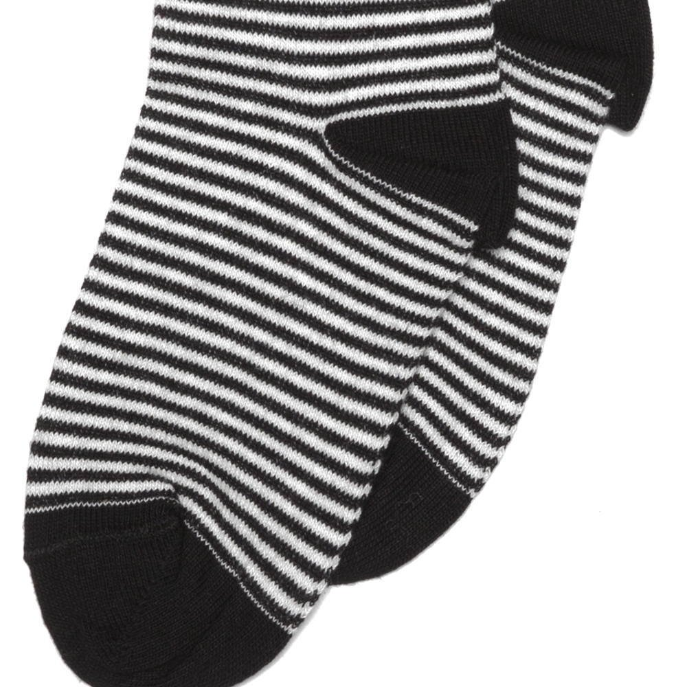 Knee sock b/w striped img2