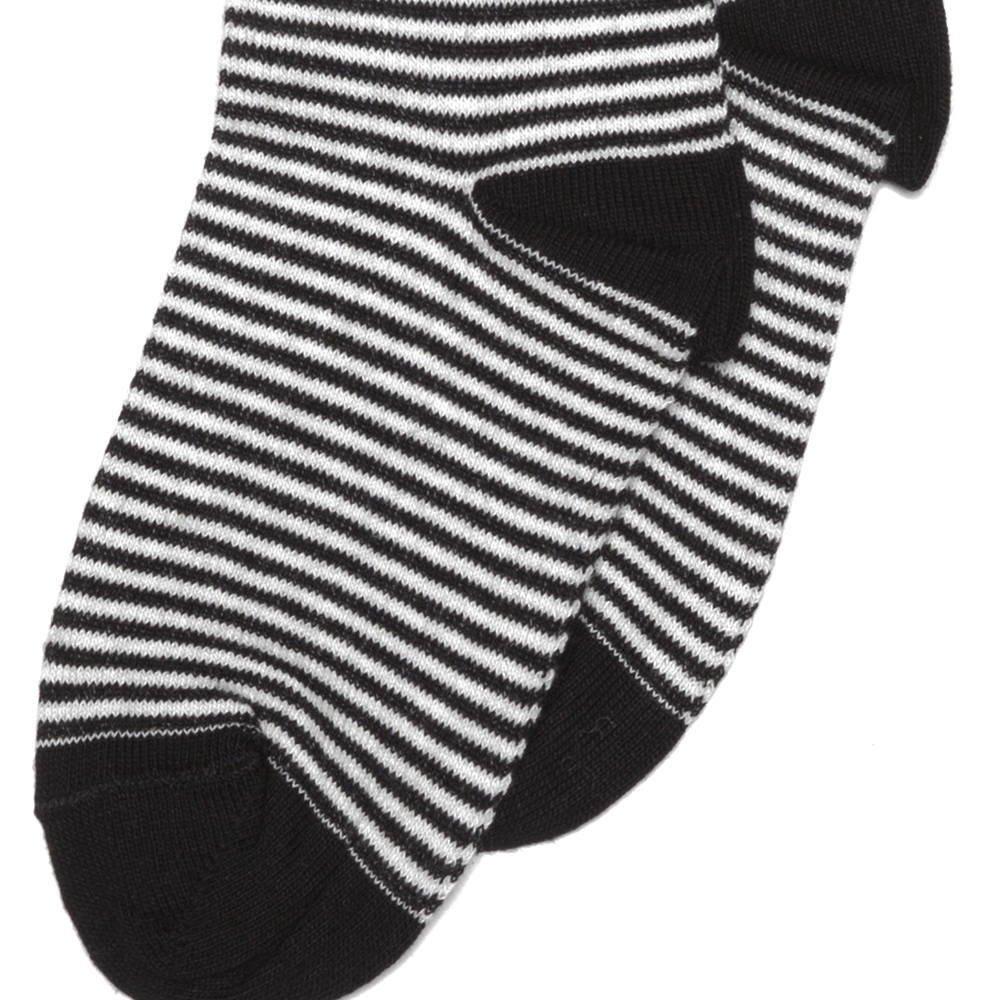 【SALE 30%OFF】Knee sock b/w striped img2
