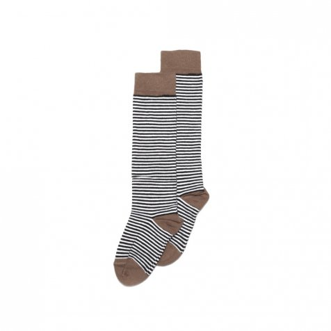【入荷前ご予約販売】Knee sock striped and rawhide