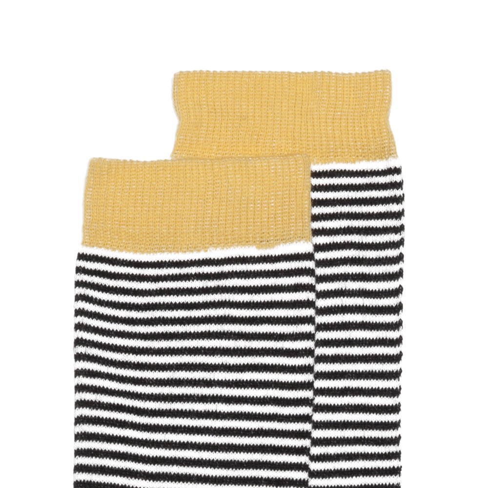 【SALE 30%OFF】Knee sock striped and ocher img1