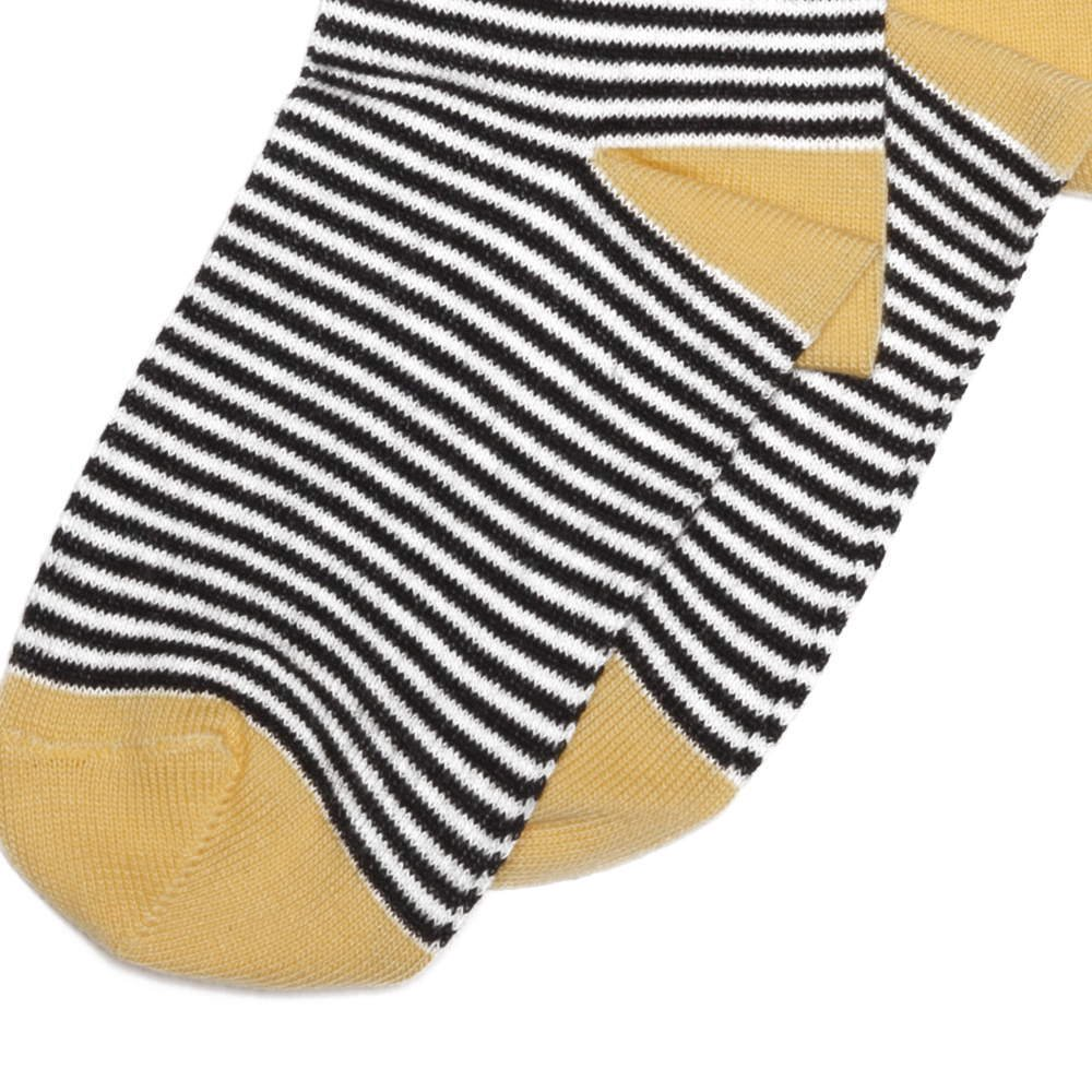 【SALE 30%OFF】Knee sock striped and ocher img2