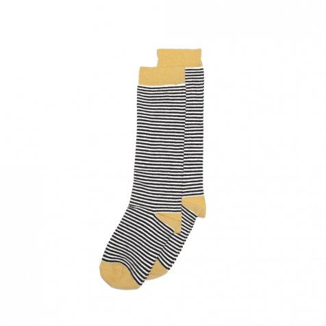 Knee sock striped and ocher