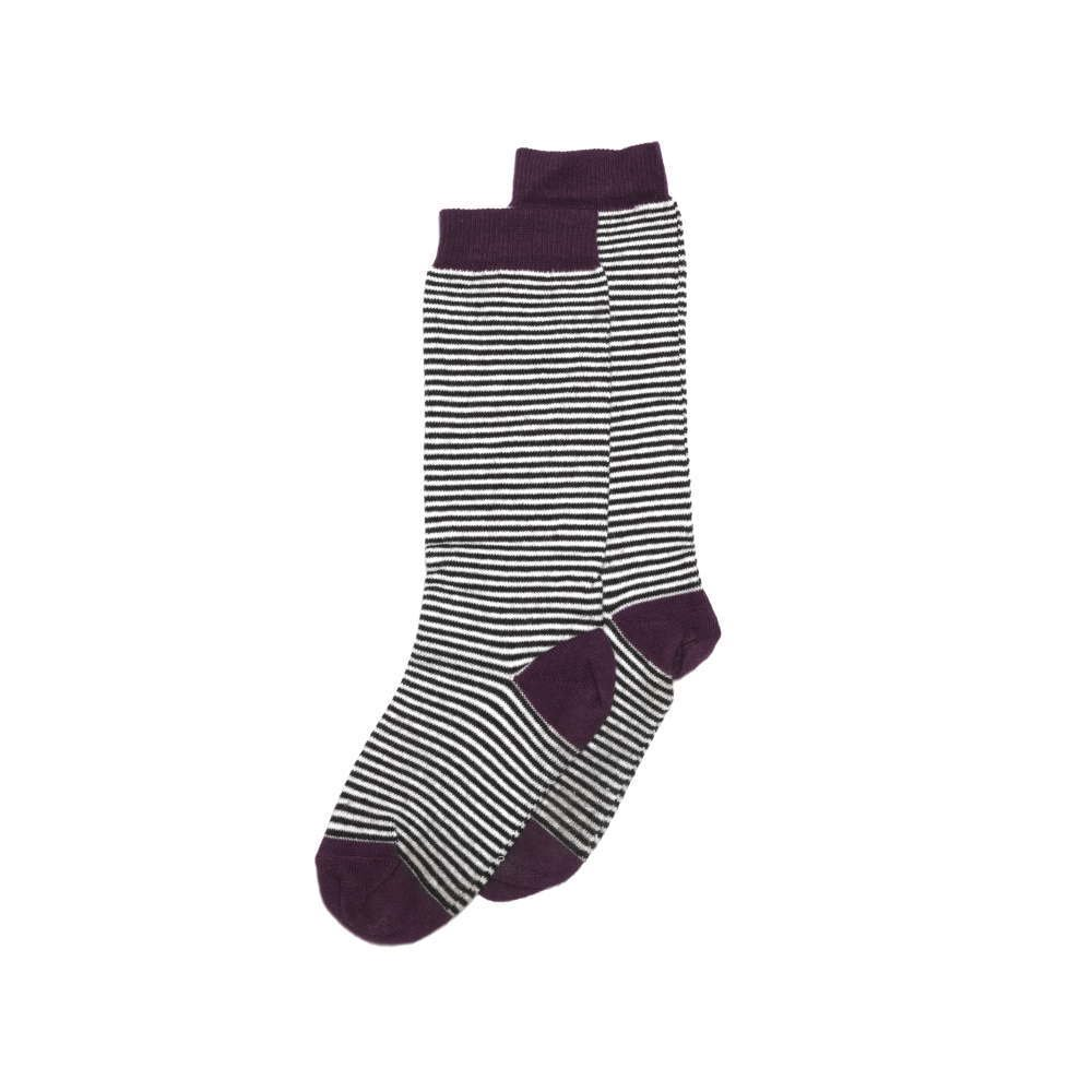 【WINTER SALE 50%OFF】Knee sock striped and ocher img