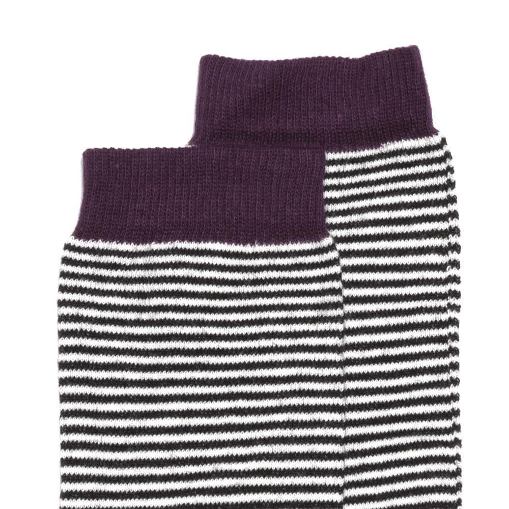 【WINTER SALE 50%OFF】Knee sock striped and ocher img1