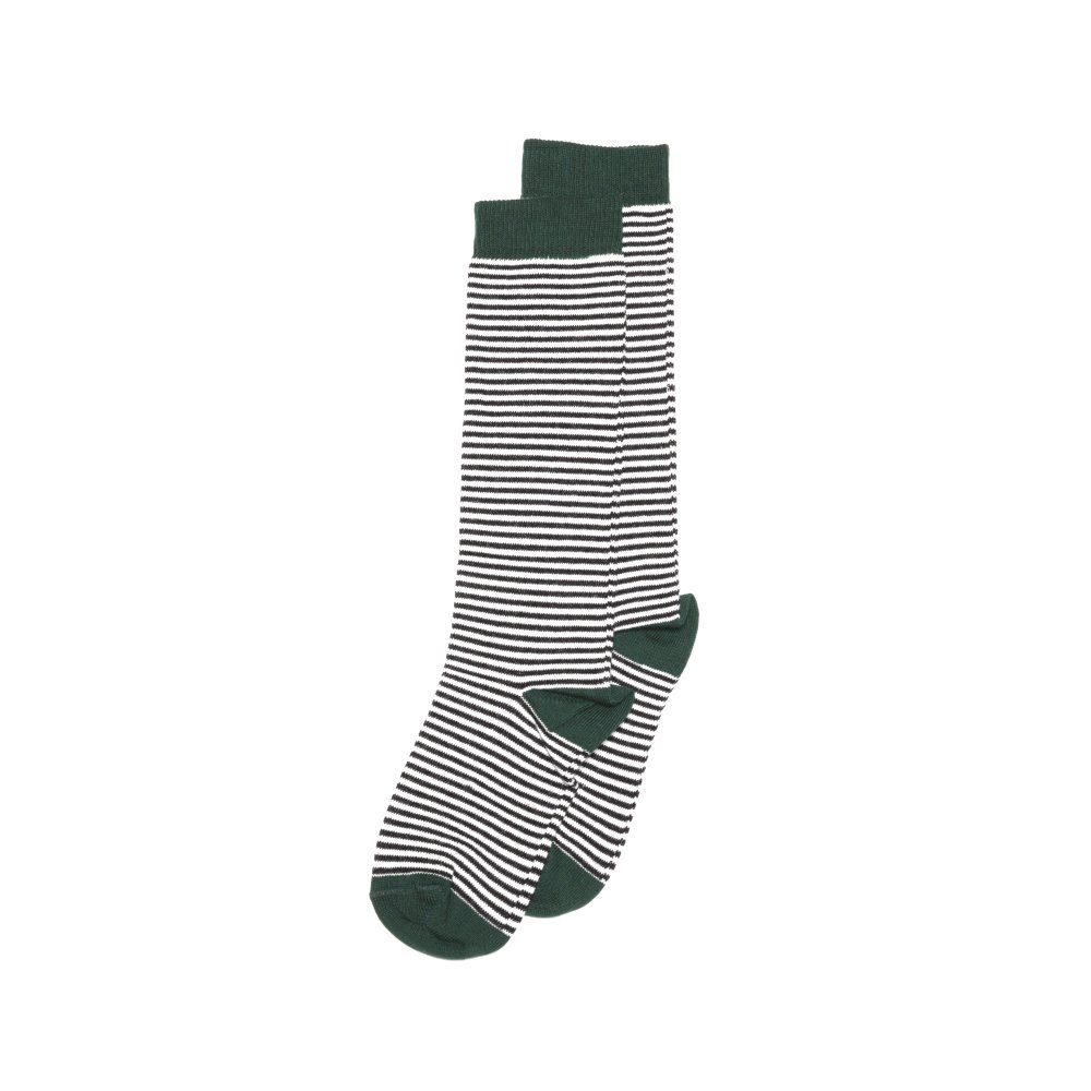 【MORE SALE 40%OFF】Knee sock striped and emerald img