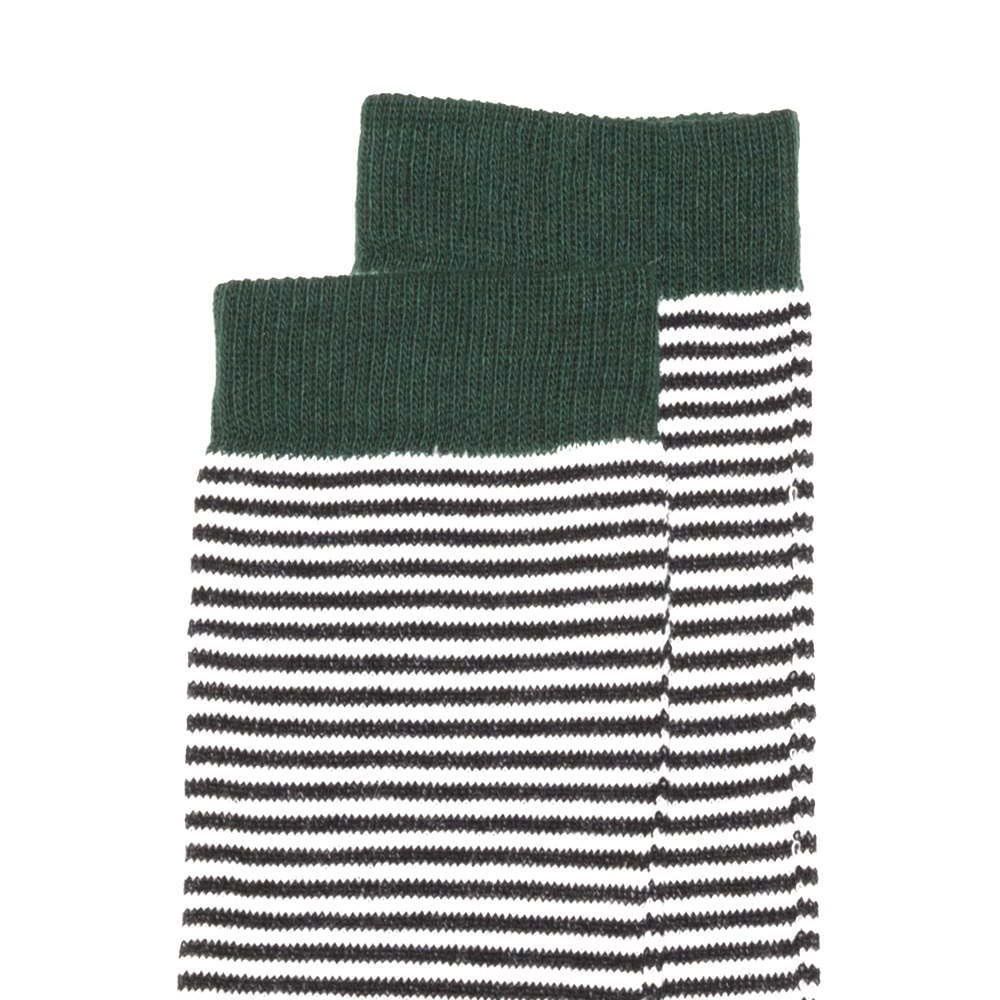 【MORE SALE 40%OFF】Knee sock striped and emerald img1