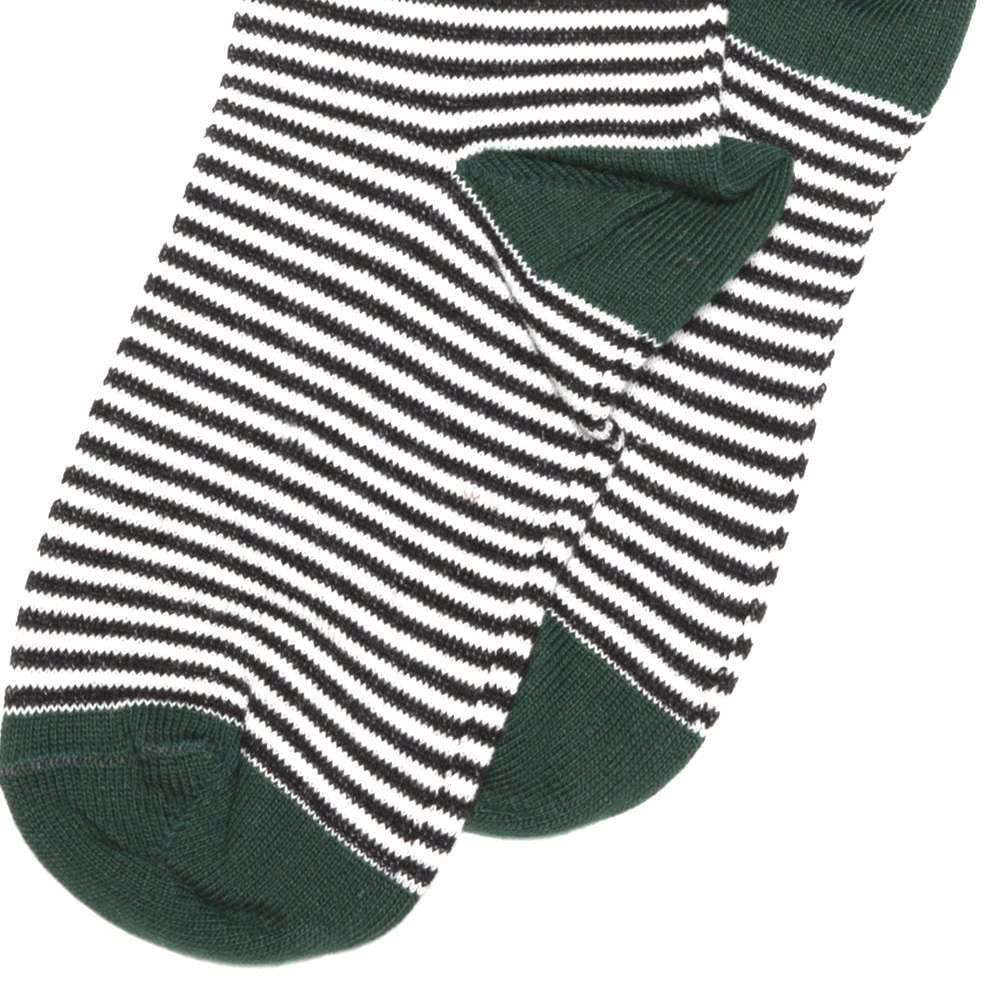 【MORE SALE 40%OFF】Knee sock striped and emerald img2