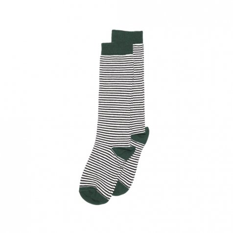 Knee sock striped and emerald