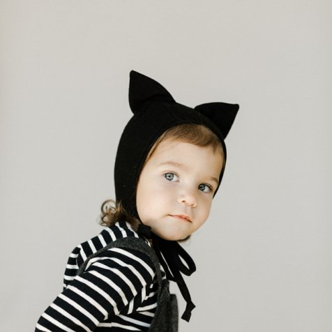 Animal Bonnet Black Cat