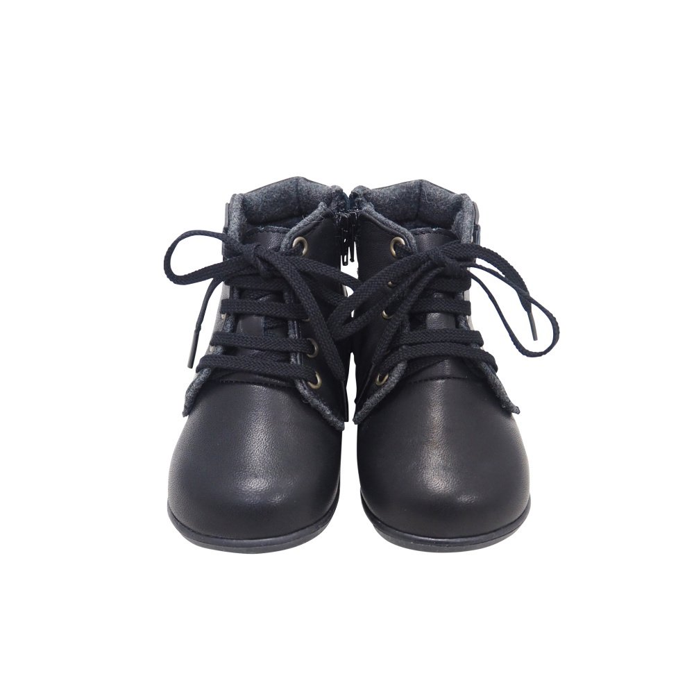 【MORE SALE 40%OFF】Lace up Boots BLACK img