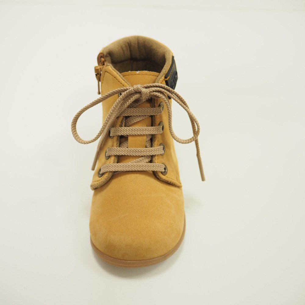 【WINTER SALE 50%OFF】Lace up Boots CAMEL img3