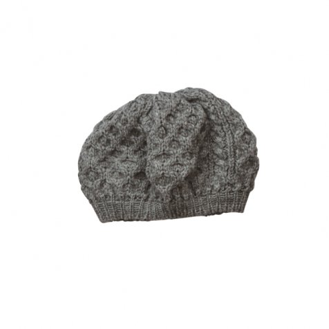 British wool beret grey