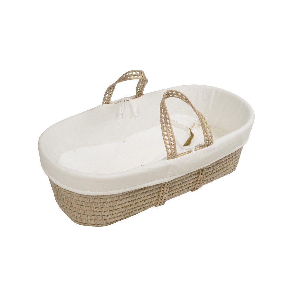 moses basket + mattress + bed linen Natural img