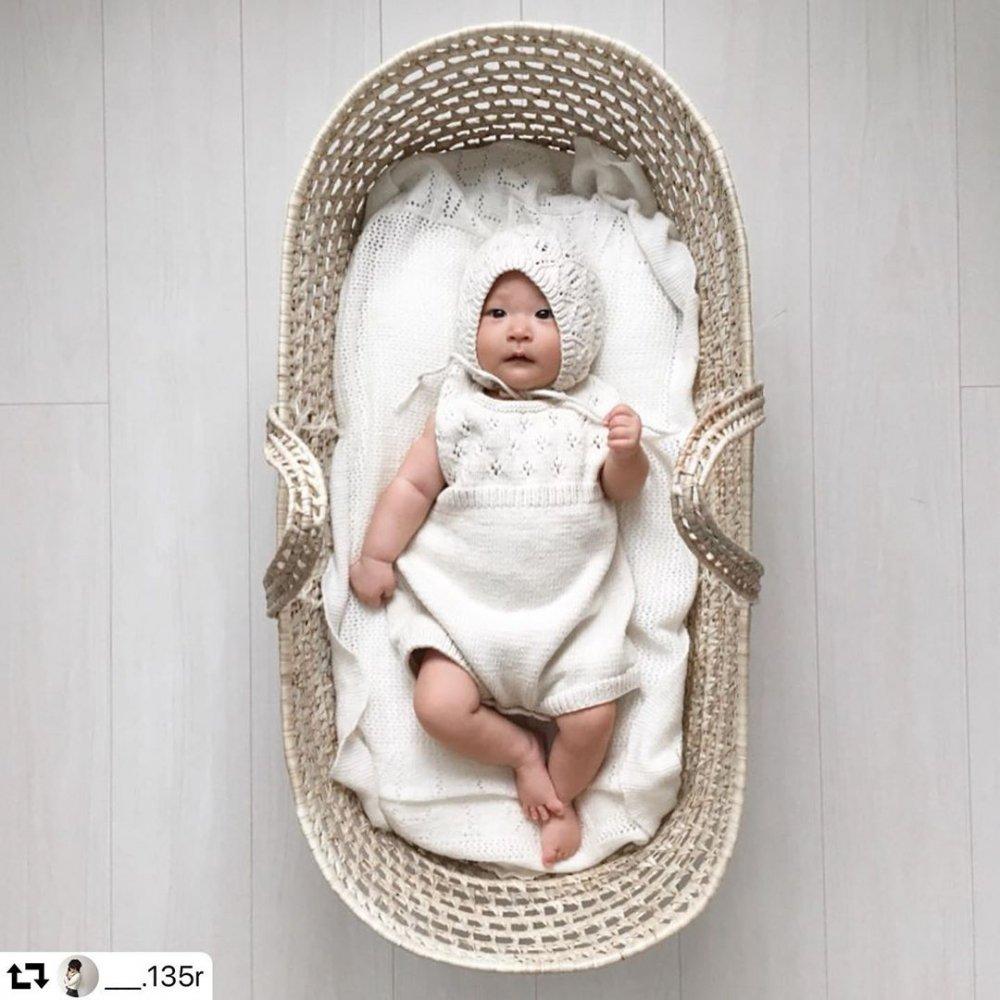 moses basket + mattress + bed linen Natural img2