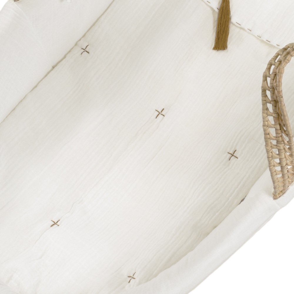 moses basket + mattress + bed linen Natural img6