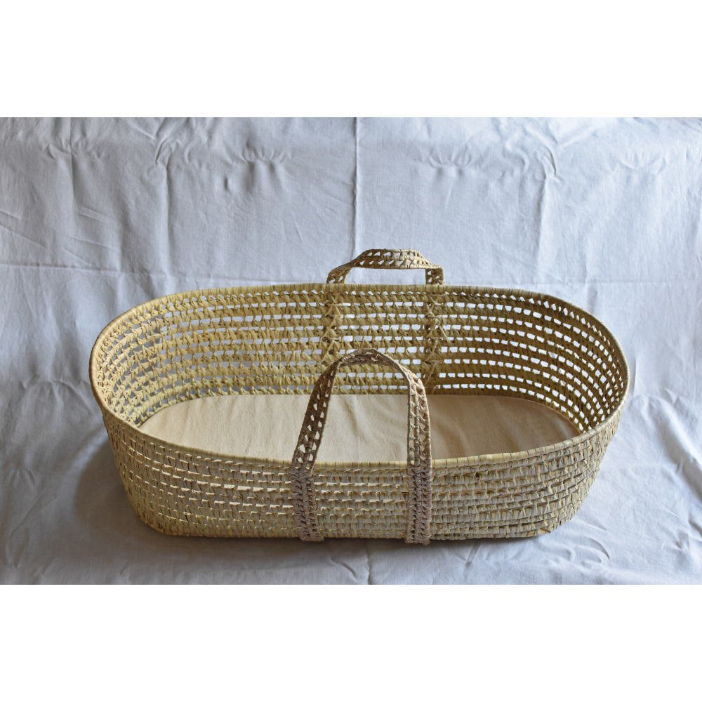 moses basket + mattress + bed linen Natural img9
