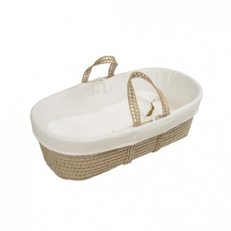 moses basket + mattress + bed linen taupe