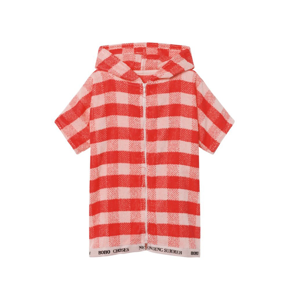 【SALE 30%OFF】2018SS No.118296/118293 Red Vichy Poncho img