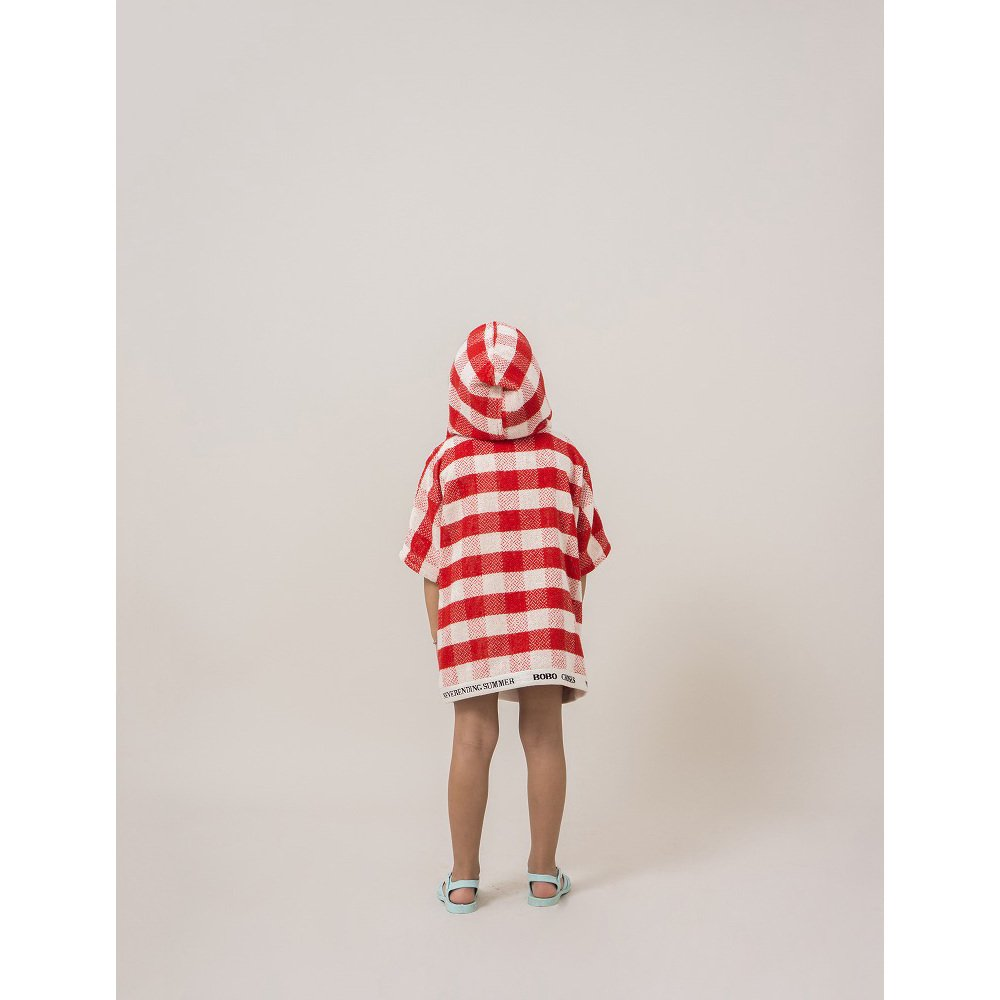 【SALE 30%OFF】2018SS No.118296/118293 Red Vichy Poncho img3