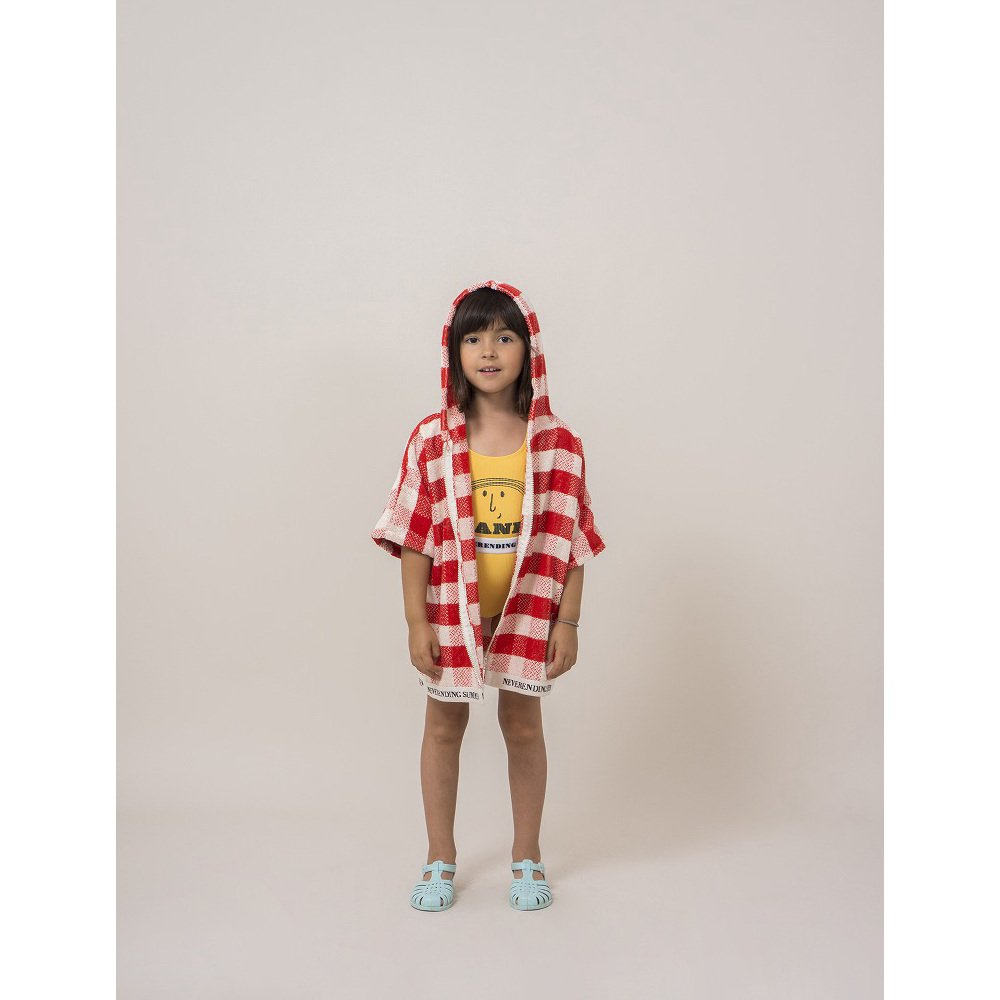 【SALE 30%OFF】2018SS No.118296/118293 Red Vichy Poncho img4