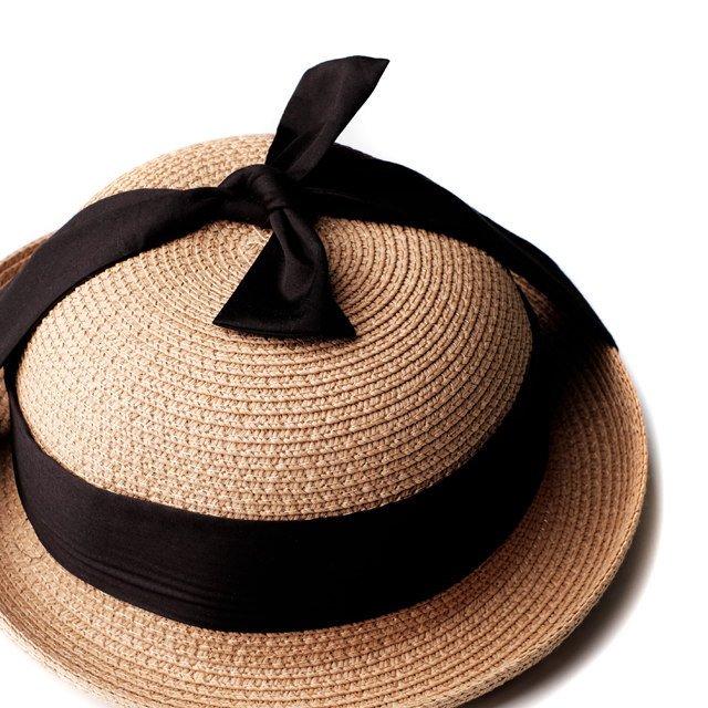 【SALE 30%OFF】SOLANGE Hat STRAW BLACK img1