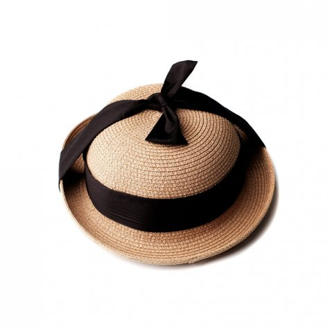 SOLANGE Hat STRAW BLACK