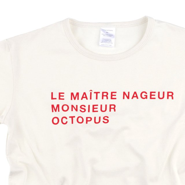 【SALE 30%OFF】No.115 le maitre nageur SS relaxed graphic tee img1