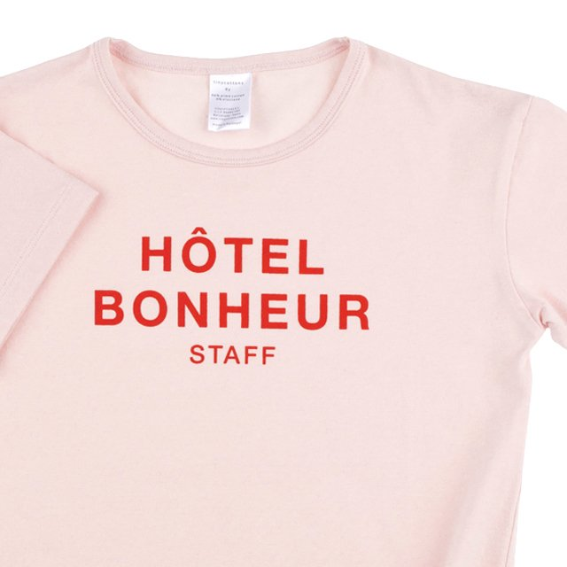 【SALE 30%OFF】No.118 big hotel bonheur staff SS relaxed graphic tee img1