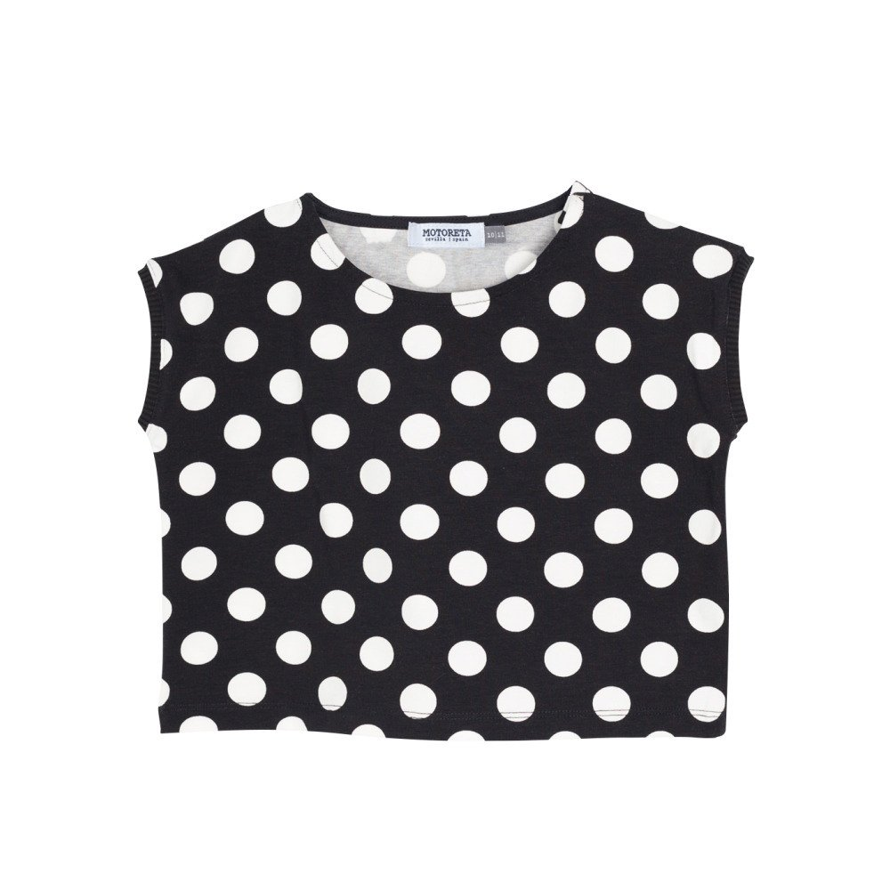 【SALE 30%OFF】AGUADULCE T-SHIRT Black & White dots img