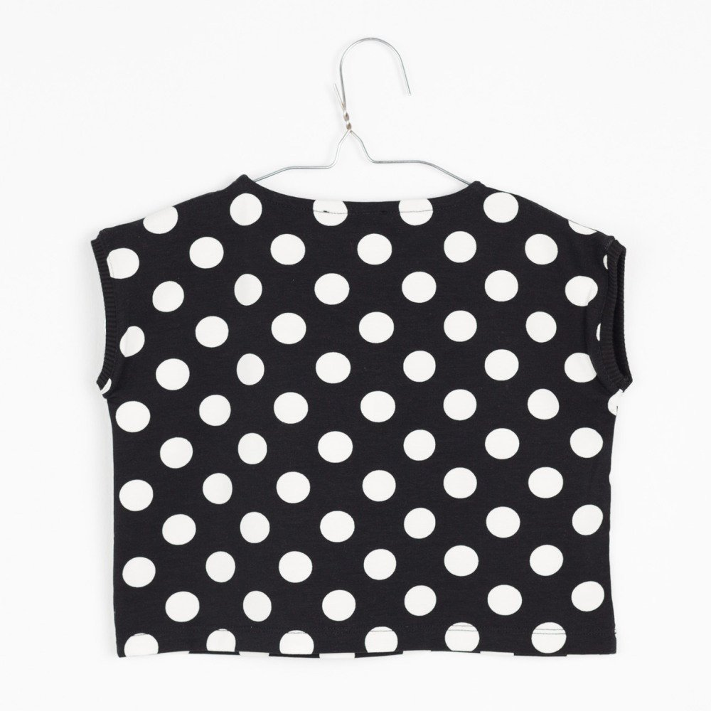 【SALE 30%OFF】AGUADULCE T-SHIRT Black & White dots img2