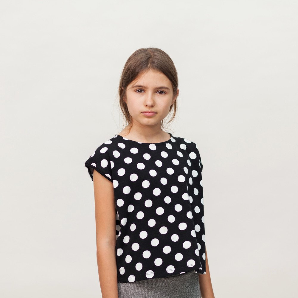 【SALE 30%OFF】AGUADULCE T-SHIRT Black & White dots img5