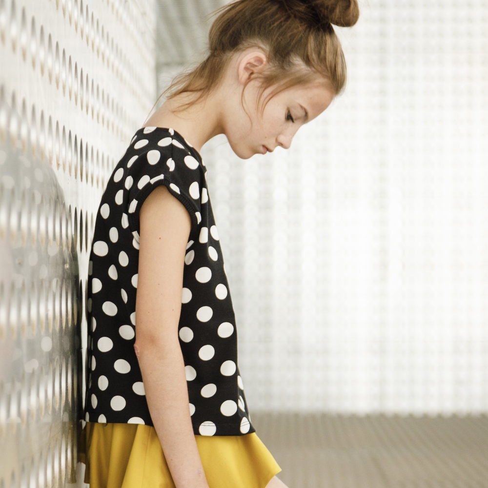 【SALE 30%OFF】AGUADULCE T-SHIRT Black & White dots img7