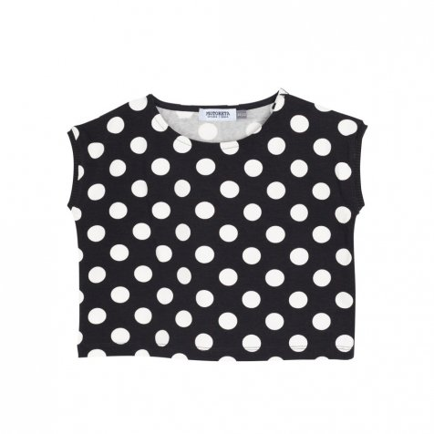 【SALE 30%OFF】AGUADULCE T-SHIRT Black & White dots