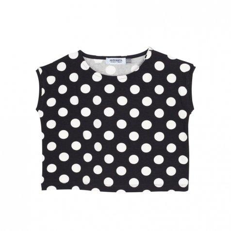【50%OFF】AGUADULCE T-SHIRT Black & White dots