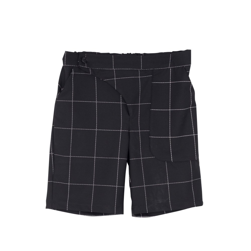 【SALE 30%OFF】POCKET PANTS Black & White Grid img