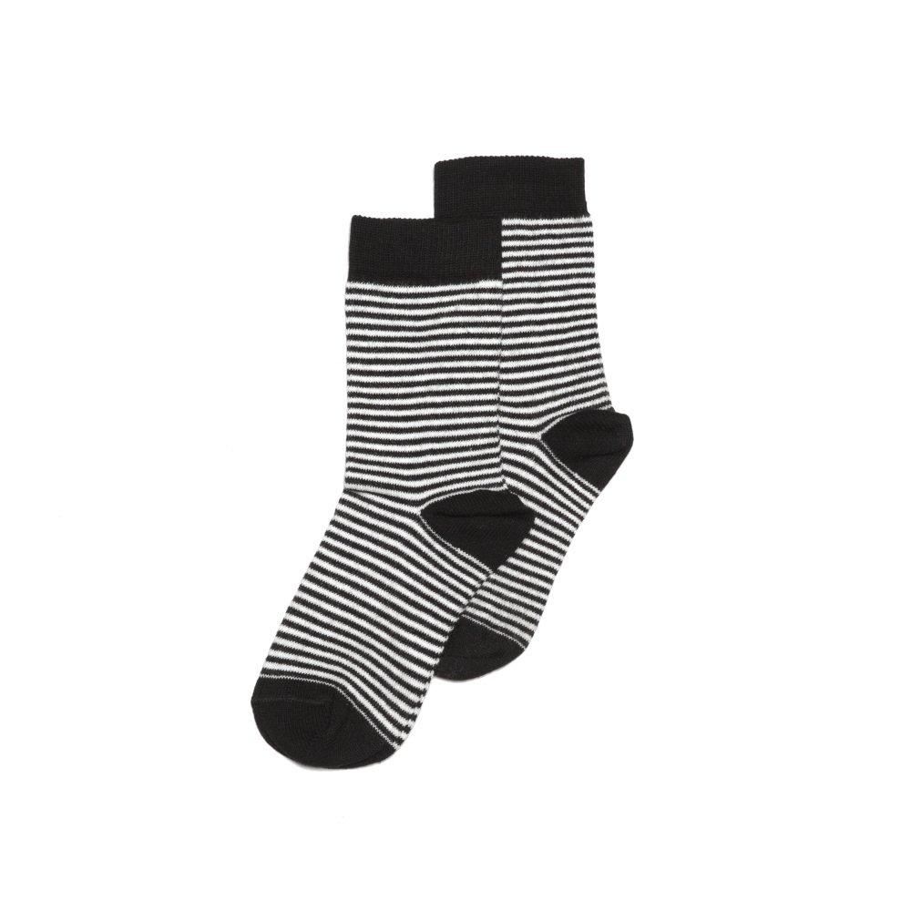 【WINTER SALE 40%OFF】Sock b/w striped img