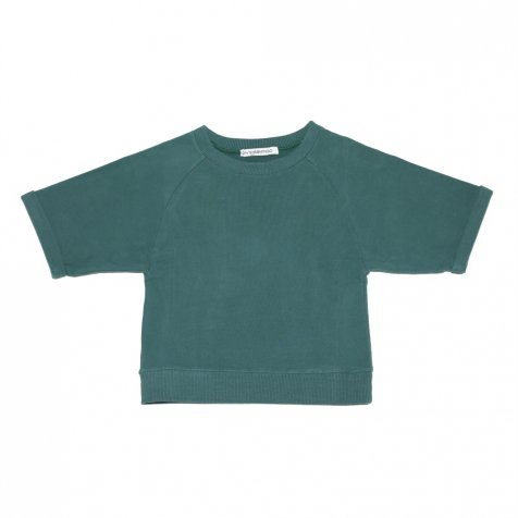 【SALE 30%OFF】Cropped sweater Rain forest green
