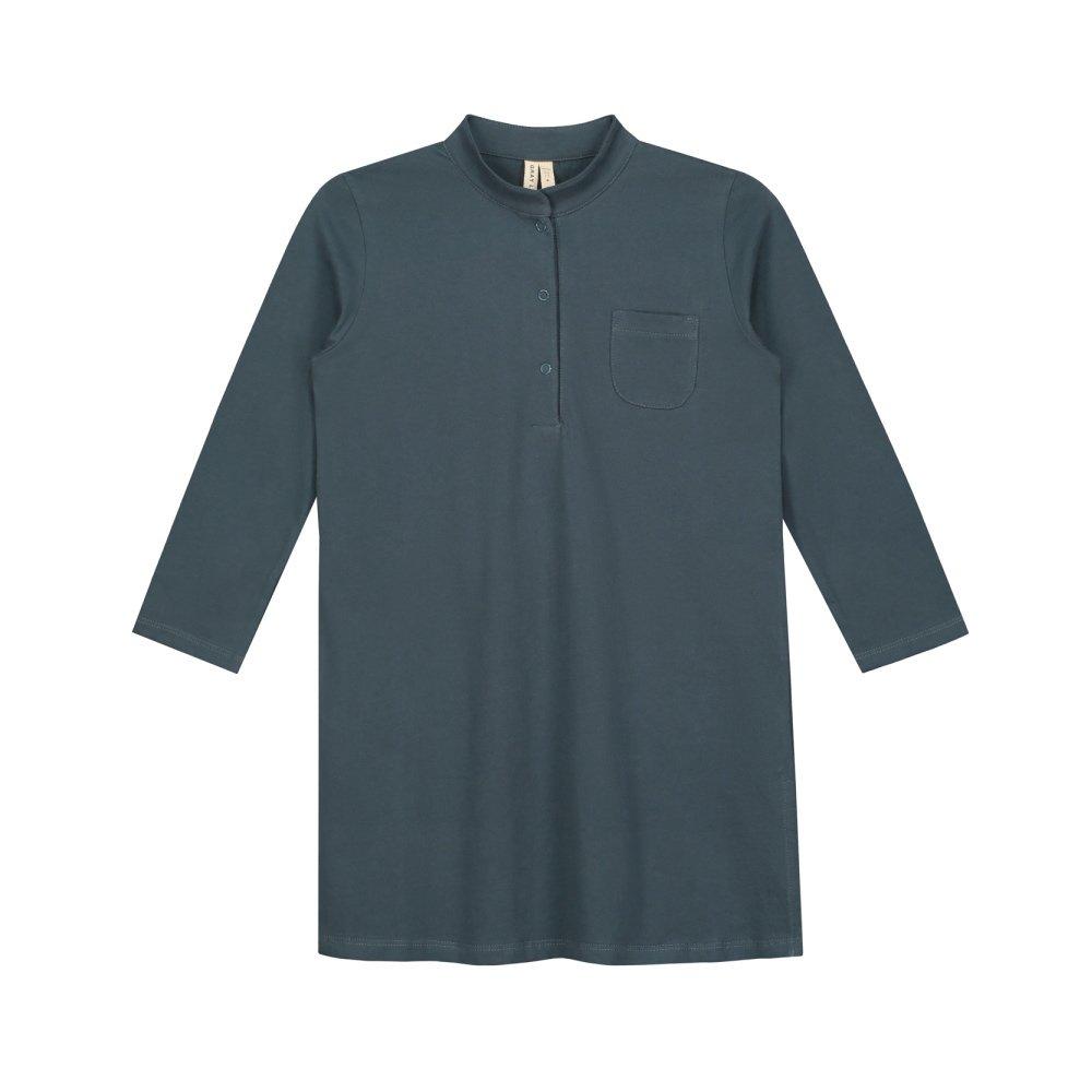 【50%OFF】3/4 Long Beach Shirt Blue Grey img