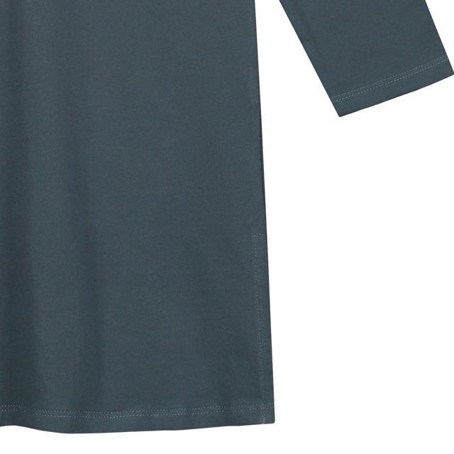 【50%OFF】3/4 Long Beach Shirt Blue Grey img2