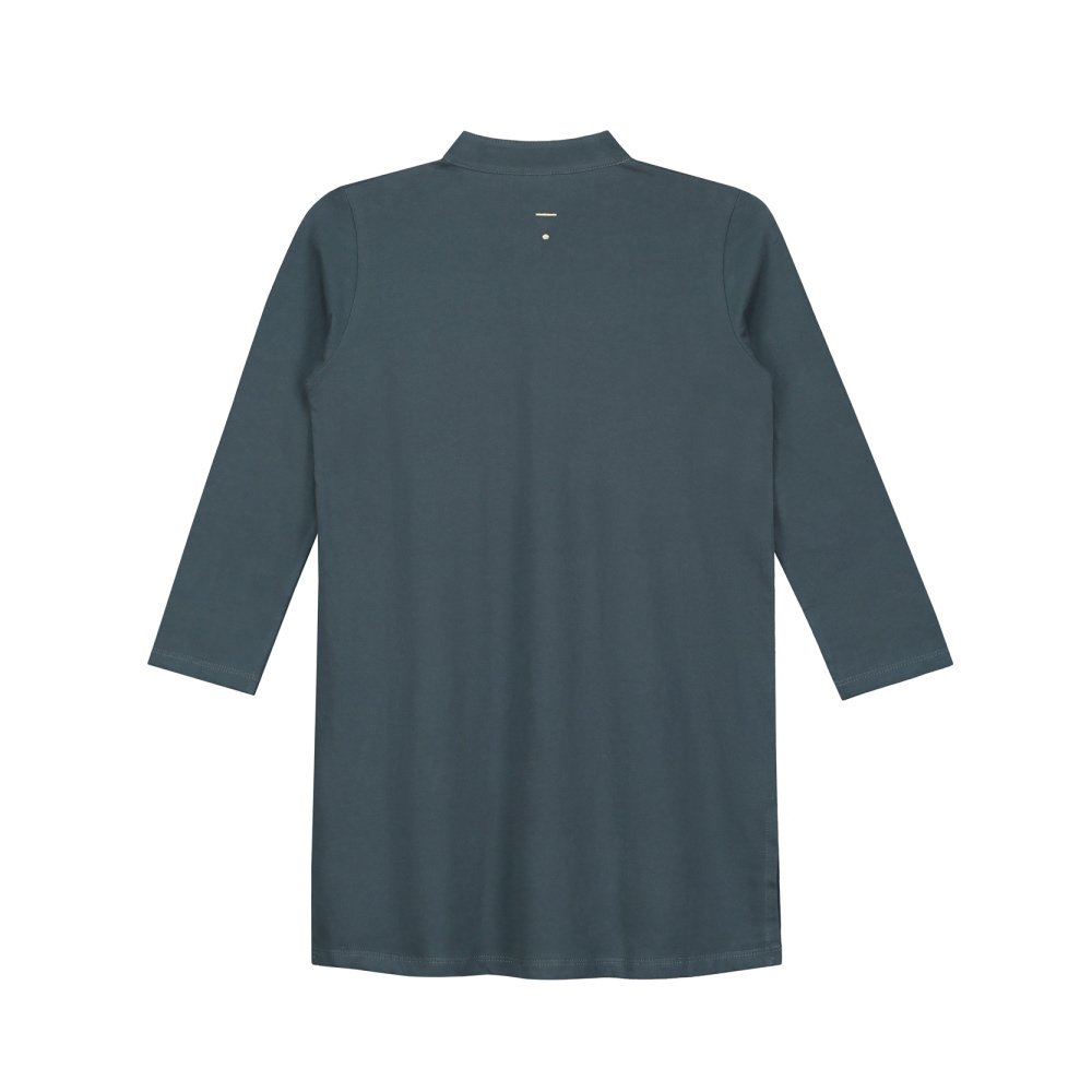 【50%OFF】3/4 Long Beach Shirt Blue Grey img3