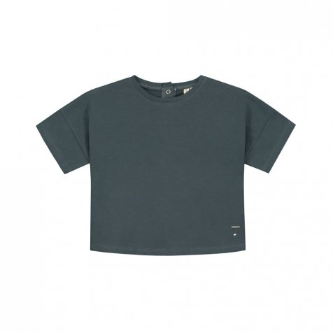 【30%OFF→40%OFF】Oversized Crop Tee Blue Grey