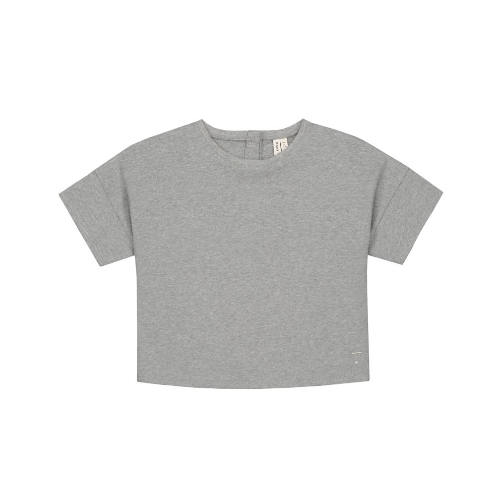 【SALE 30%OFF】Oversized Crop Tee Grey Melange img