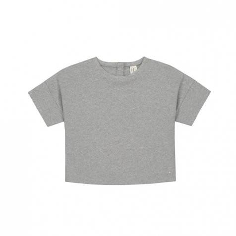 【30%OFF→40%OFF】Oversized Crop Tee Grey Melange