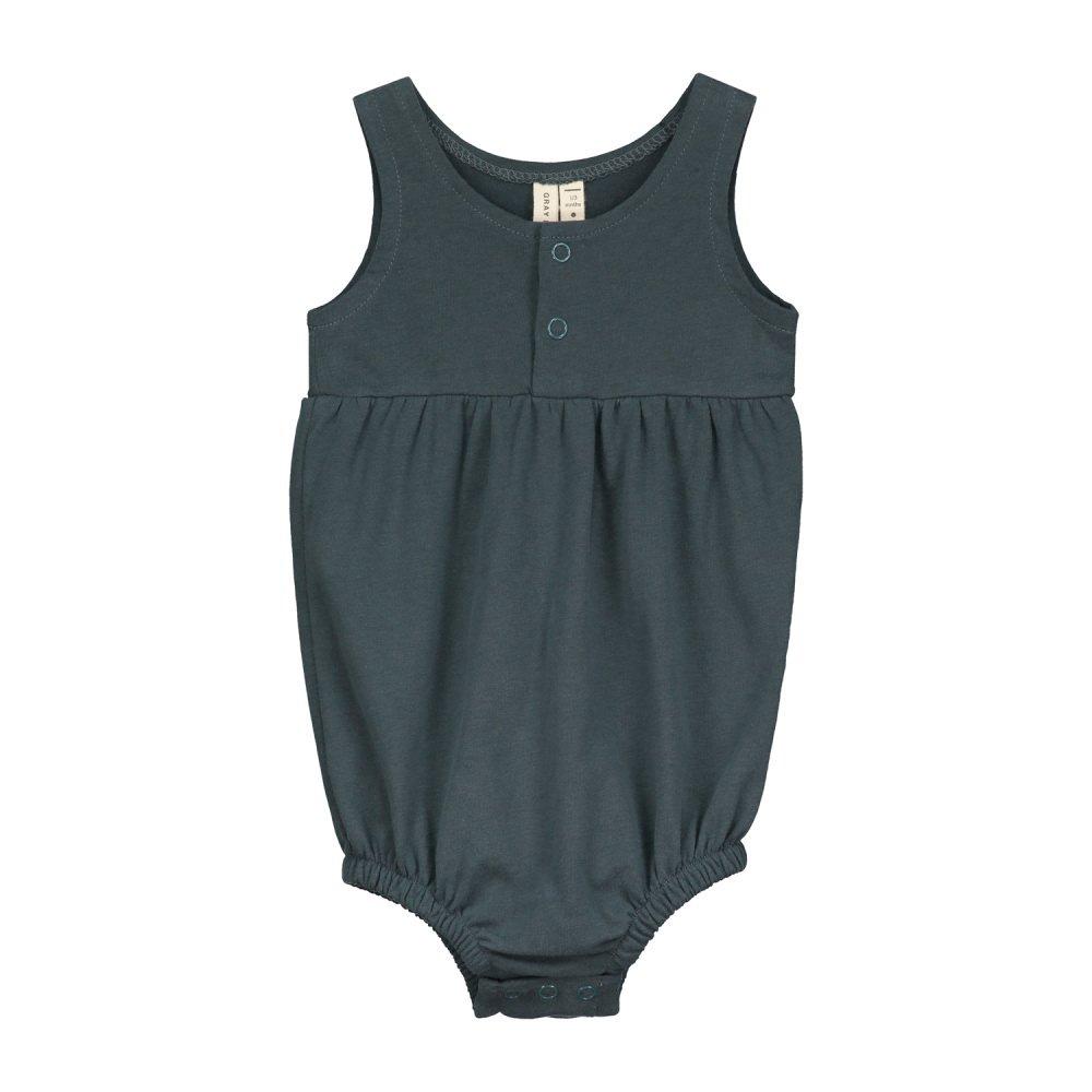 【SALE 30%OFF】Baby Summer Onesie Blue Grey img